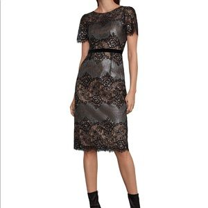 "Bcbg Maxazria Dress ""lace & metallic trim dress"""
